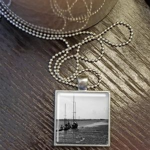 Black Sails Square Pendant